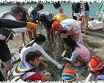 ヨロン島を体験!「ゆんぬ体験館」 熱帯魚追い込み漁~力を合せてトロピカルカラ―の後を追え!!