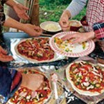 農家体験民宿ブルーベリーの里ピザ焼き体験